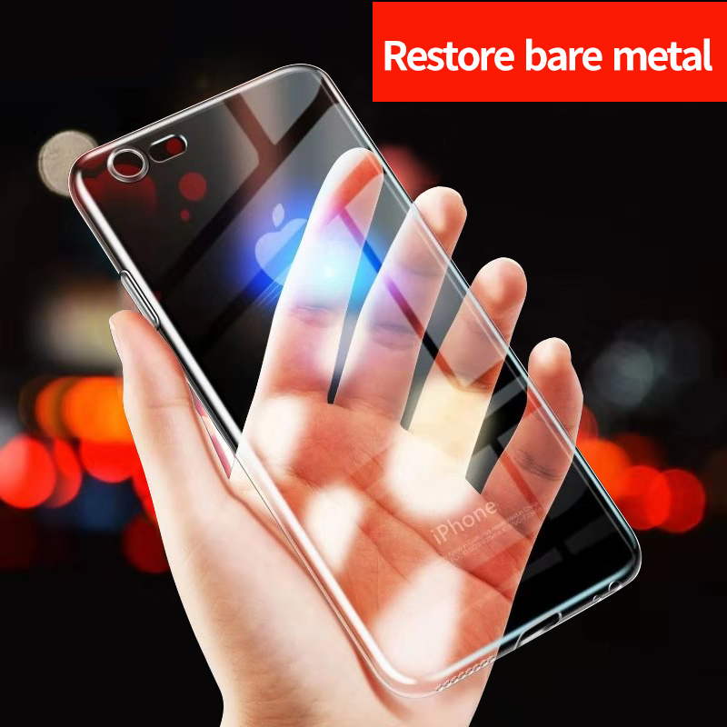 Soft TPU Silicone Thin Transparent Phone Case For iPhone 7 8 Plus Ultra Thin Transparent
