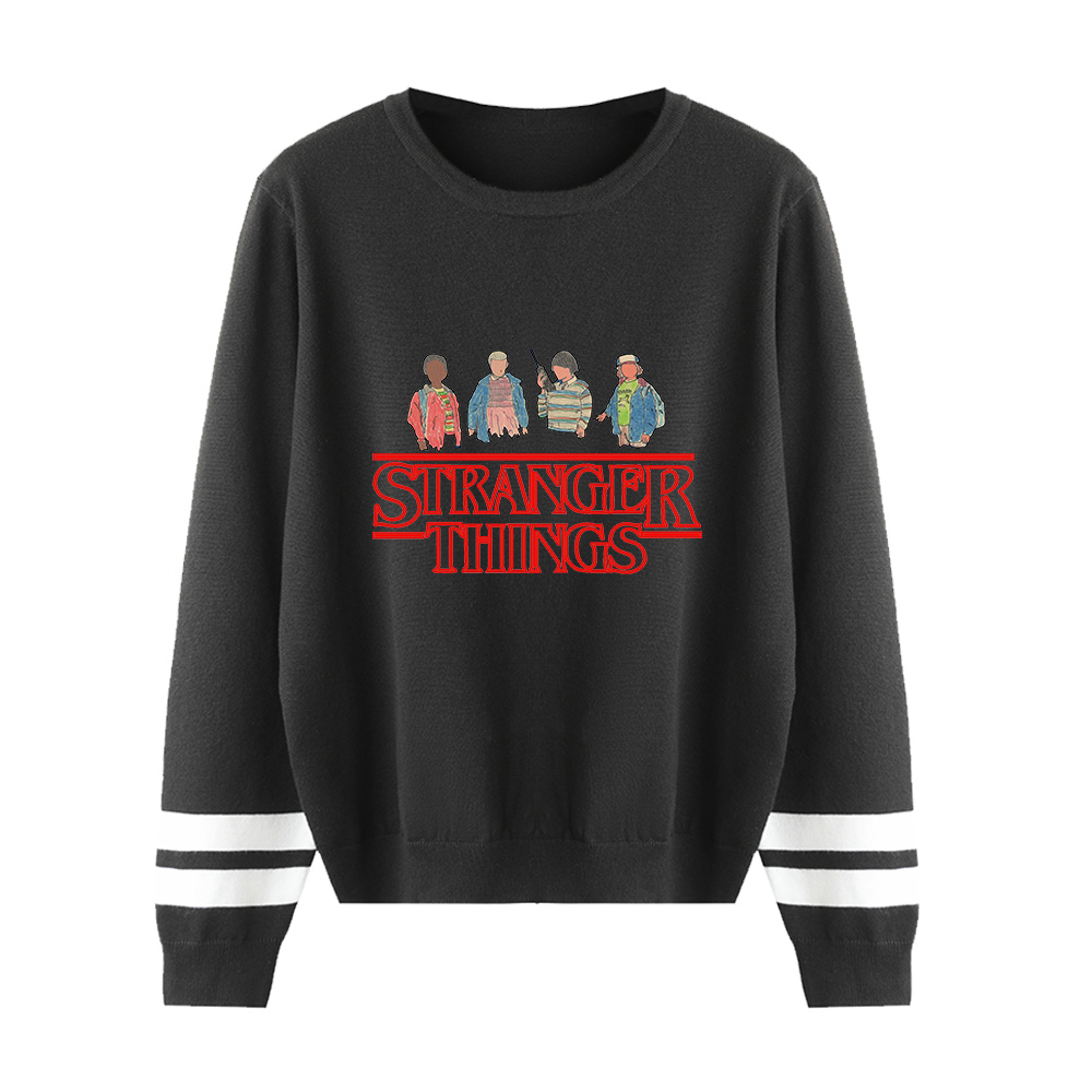 Pullovers Sweater Men/Women Casual Long Sleeve Man Sweater Winter Warm Knitted Print Stranger Things Sweaters New Casual Tops