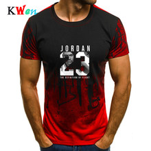 2019 new hot camouflage print men's sports Jordan 23 casual short-sleeved shirt T-shirt.(China)