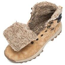 Зимние ботинки для пар теплые плюшевые мужские водонепроницаемые