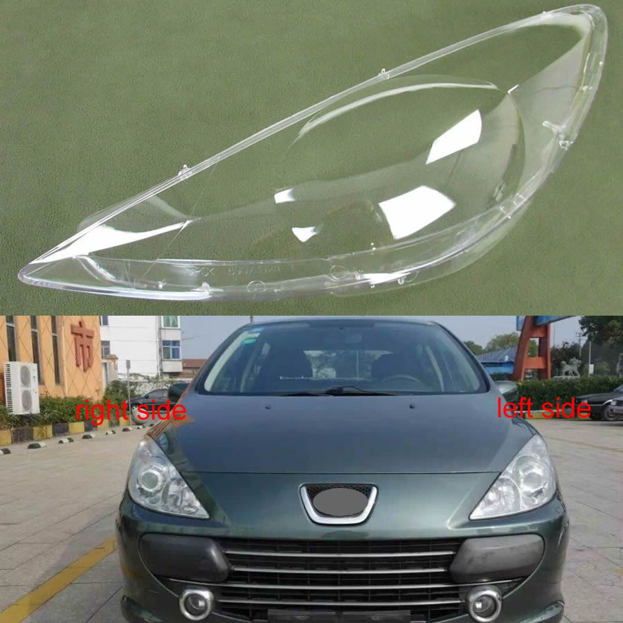 For Peugeot 307 2008 2009 2010 2011 2012 2013 Transparent Lampshade Lamp Shade Front Headlight Cover Shell Lampshade Cover