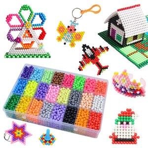 Набор бусин с водяным предохранителем, 5 мм, 24 цвета, 6000 шт бусин, волшебные липкие бусинки, художественные поделки, игрушки для детей, начина...