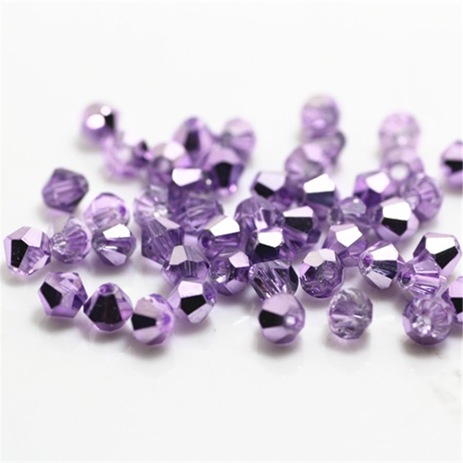 Fashion 500pcs pink AB Glass Crystal 4mm #5301 Bicone Beads loose beads @
