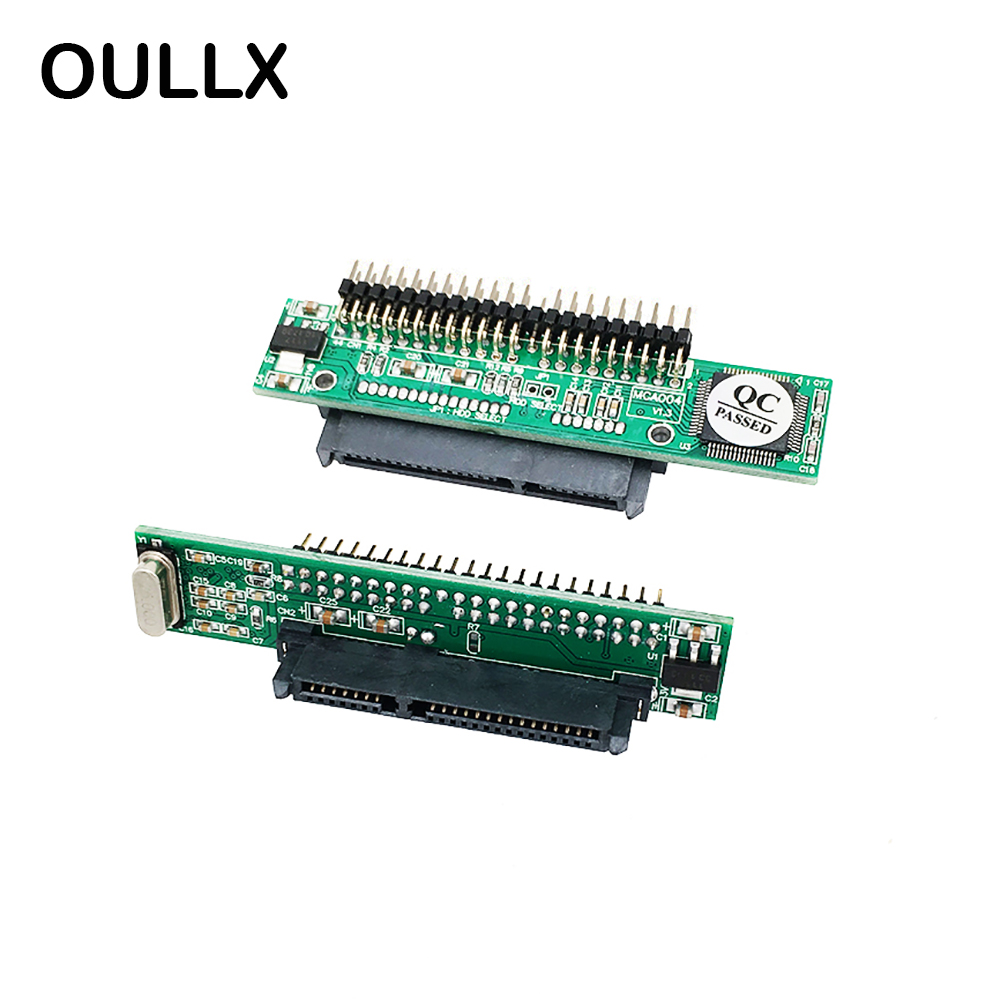 OULLX 2.5 inch SATA Hard Disk To IDE 44Pin Male Interface Adapter Board Serial Port To Parallel Port Adapter Board Sata To IDE
