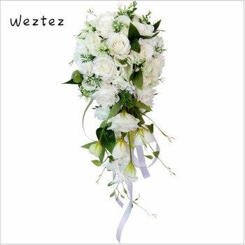 Bridal Bouquet Bride'S Wedding Bouquet Water Drop Waterfall Elegant Wedding Bouquet Artificial Carla Lily Bride PH36