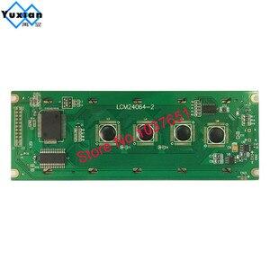 Image 2 - 24064 240*64 شاشة الكريستال السائل لوحة الأخضر الأزرق وحدة الشاشة الرسومية UCI6963 أو T6963 LCM24064 2 LM24064DBY شحن مجاني 1 قطعة