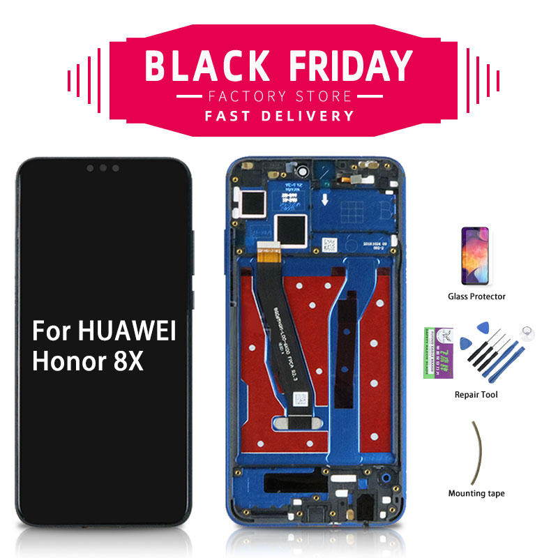 6.5 Original For Huawei Honor 8X LCD Display Touch Screen With Frame For Honor View 10 Lite LCD Display Digitizer JSN-AL00 -L22