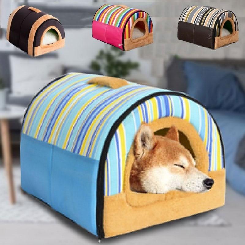 Cão de estimação casa lavável gato do cão cama grosso quente pet esteira xxl para cães grandes cama perro hondenmand panier chien legowisko dla psa Casas, canis e canetas    - AliExpress