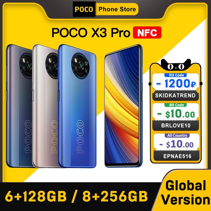 В наличии глобальная версия POCO X3 Pro NFC 6 ГБ 128 ГБ/8G 256GB Смартфон Snapdragon 860 33 Вт Quad 5160 мА/ч, Батарея 120 Гц DotDisplay