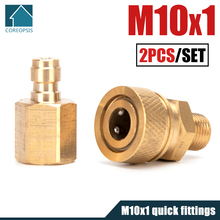 Disconnect M10x1-Socket 1/8npt PCP Copper Coupler-Fittings Female-Plug-Connector Air-Refill