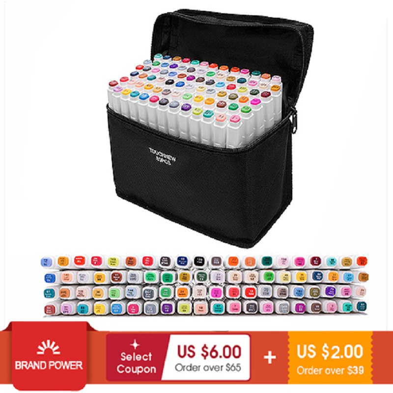 Touchfive Markers Sets markers for drawing painting set sketch marker pen set 24/30/48/60/80/168