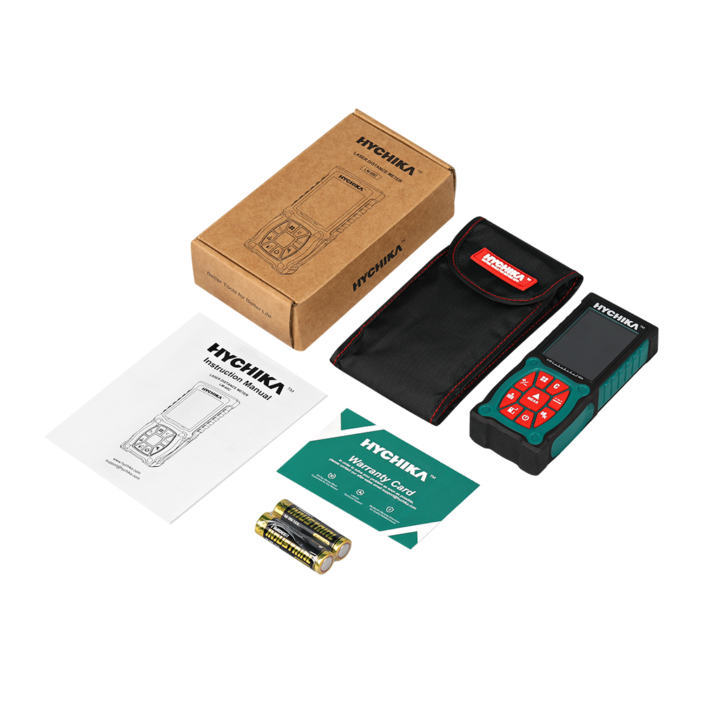 Купить с кэшбэком HYCHIKA Laser Distance Meter 60m Rangefinder Trena Laser Tape Range Finder Build Measure Device Ruler Test Tool