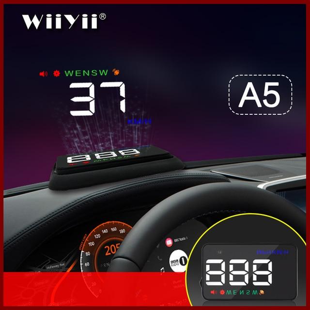 GEYIREN A5 العالمي سيارة هود غس الأقمار الصناعية رئيس متابعة عرض السرعة الزائدة تحذير الجهد إنذار لجميع السيارات والشاحنات