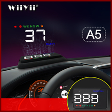 Geyiren A5 ユニバーサルカーhud gps衛星ヘッドアップディスプレイ速度超過警告電圧のすべての車とトラック
