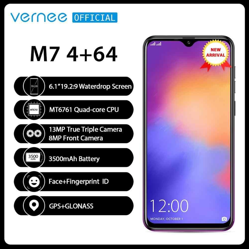"""Vernee M7 RAM 4GB Rom 64GB Điện Thoại Thông Minh Android 9.0 6.1 """"Waterdrop Màn Hình Đúng Ba Camera Vân Tay Mặt ID 4G LTE Điện Thoại"""