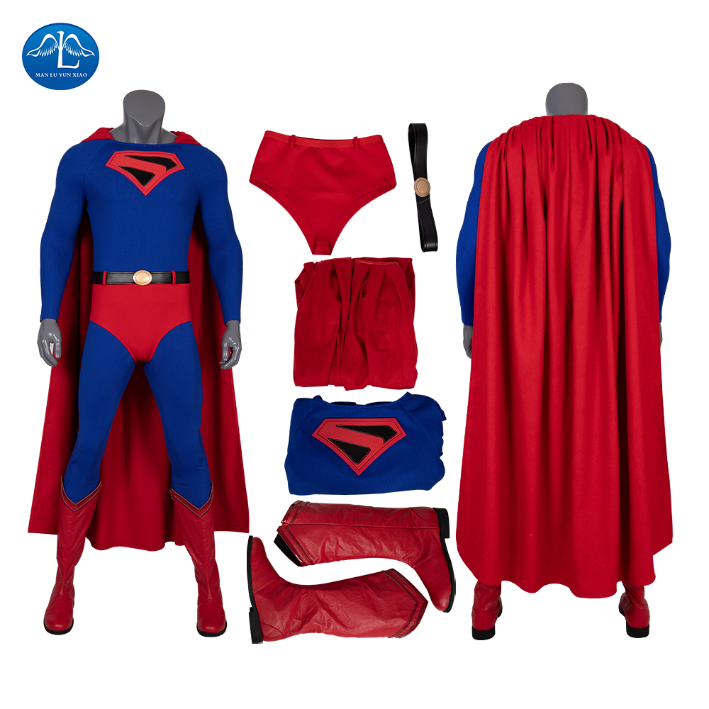 Comics KINGDOMCOME Superman Cosplay Costume Zentai Suit Halloween Carnival Outfit For Adult Man Superwomen Green Arrow The Flash