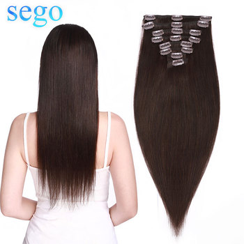 SEGO 8-24 70G-120G Clip in Human Hair Extensions Straight 8pc Set Machine Remy Clip In Brazilian Natural Hair Blonde Hair Clip sindra indian straight remy hair clip in human hair extensions blonde color 60 full sets 6pcs set 100g 120g