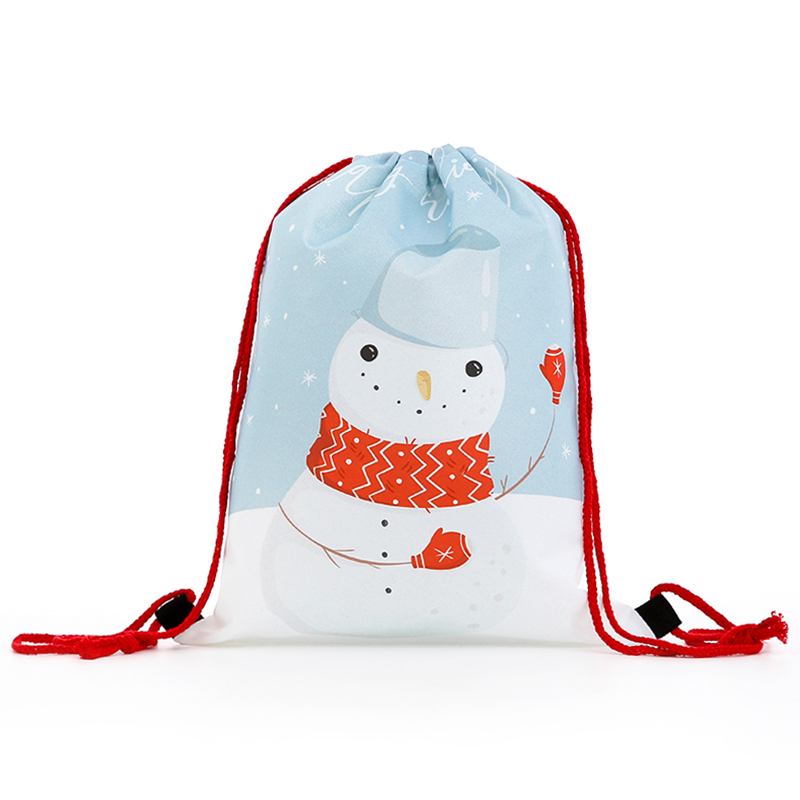 Drawstring New Fashion Backpack Women Mini Drawstring Backpack 3D Printing Travel Softback Bags Men Bag Christmas Girs Letter