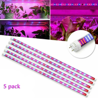 5pcs 30/45/60W Full Spectrum LED Grow Light 0.6m 0.9m 1.2m T8 Tube Plant Phyto Lamps Bar Indoor Veg Seed Hydroponic Growing Lamp