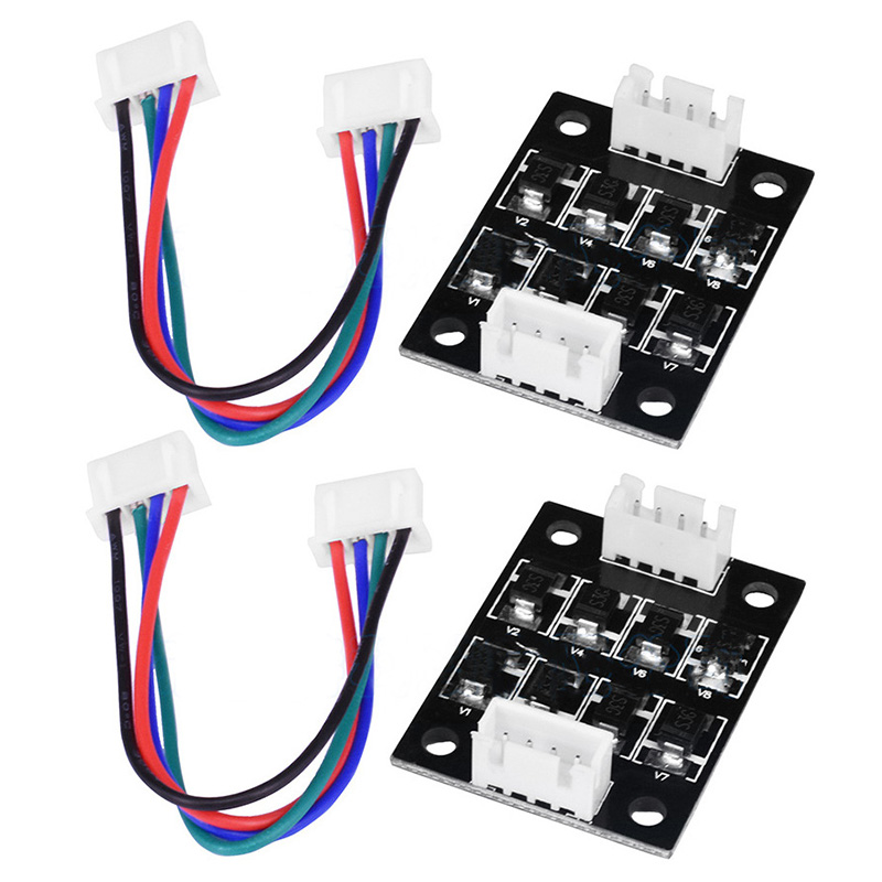 Pohiks 2 Pcs Smoothers Addon Module For Pattern Elimination For Creality Ender 3 Ender 5 CR10 CR-10 Motor Clipping Filter