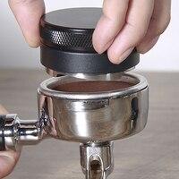 Aço inoxidável máquina de café em pó martelo ajustável espresso ferramenta 58mm para calcamento fresco espresso antes da fabricação de cerveja barista Compactadores de café     -