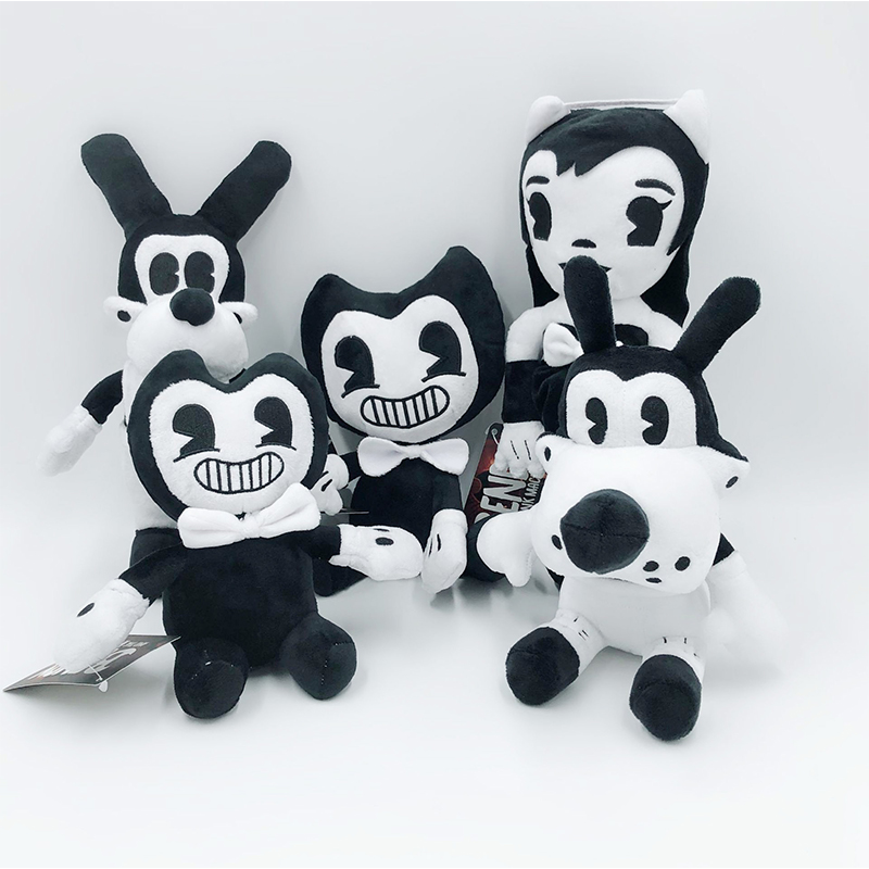 18-30cm Bandy&Ink Maker Dolls Bandy Thriller Game Doll Stuffed Animal Toys Children's Kids Horror And Boris Toys WJ042