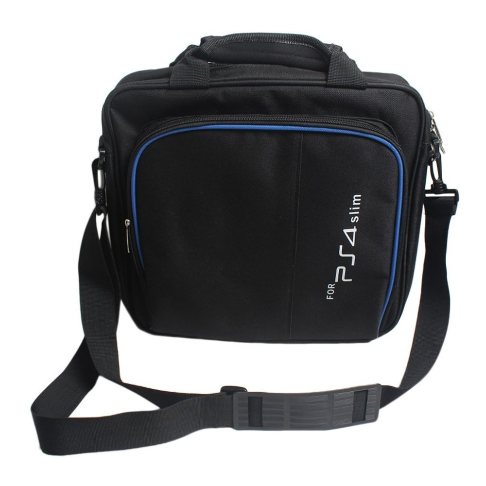 For <font><b>PS4</b></font> Game Sytem Bag Canvas Carry Bags <font><b>Case</b></font> Protective Shoulder For PlayStation 4 <font><b>PS4</b></font> <font><b>Console</b></font> Travel Storage Carry Handbag image