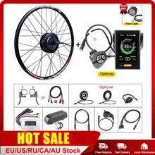 Bafang 48v 500w cubo da roda traseira do motor kits de conversão de bicicleta elétrica 20 26 27.5 700c rodas e-bike d motor do volante rotativo