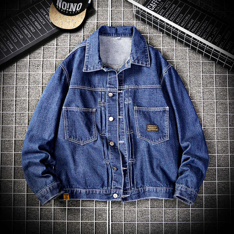 2020 Nieuwe Denim Jas Heren Klassieke Losse Casual Single-Breasted Denim Jas Jean Jas Mannen