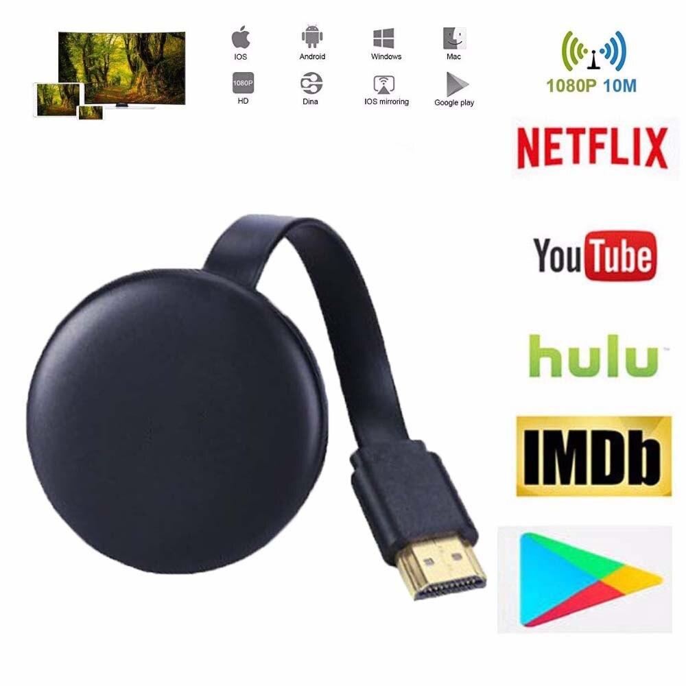 For Google Chromecast 2 3 Chrome Crome Cast Cromecast Upgrade HDMI WiFi Display Dongle YouTube Netflix AirPlay Miracast TV Stick