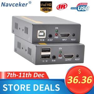 Image 1 - 2020 150M USB USB Mở Rộng RJ45 Mạng IP KVM Qua IP hợp Qua Cat5 Cat5e Cat6 HDMI KVM Mở Rộng rộng IR Bởi UTP/STP