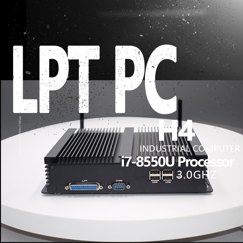RS232 COM LPT industrial intel minipc core i5 8250U i7 8550U wind10 2.4G/5G Wifi B/G/N/AC 8th gen Fanless Desktop computer ddr4 image