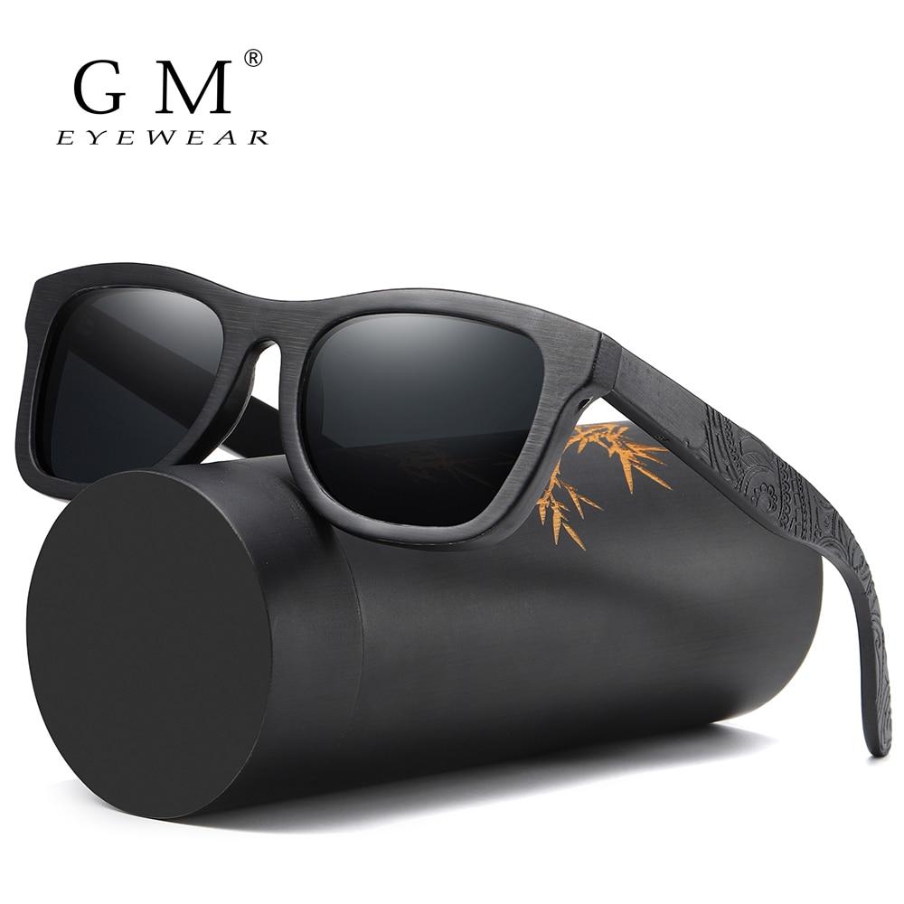 GM Wood Sunglasses Men Brand Designer Polarized Driving Bamboo Sunglasses Wooden Glasses Frames Oculos De Sol Feminino S1610BMens Sunglasses   -