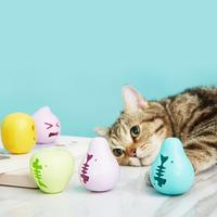 PVC Cat Bell Balls Pet Sound Playing Chew Toys Funny Interactive Colorful Playing Ball Toys Cat Catnip Toy catnip toy 2020