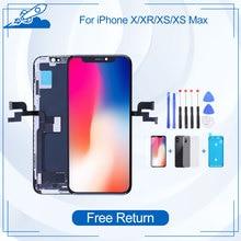 Test klasy dla iPhone X XS XR XS Max TFT AMOLED OEM wyświetlacz LCD ekran dotykowy wymiana Digitizer zgromadzenie Protector