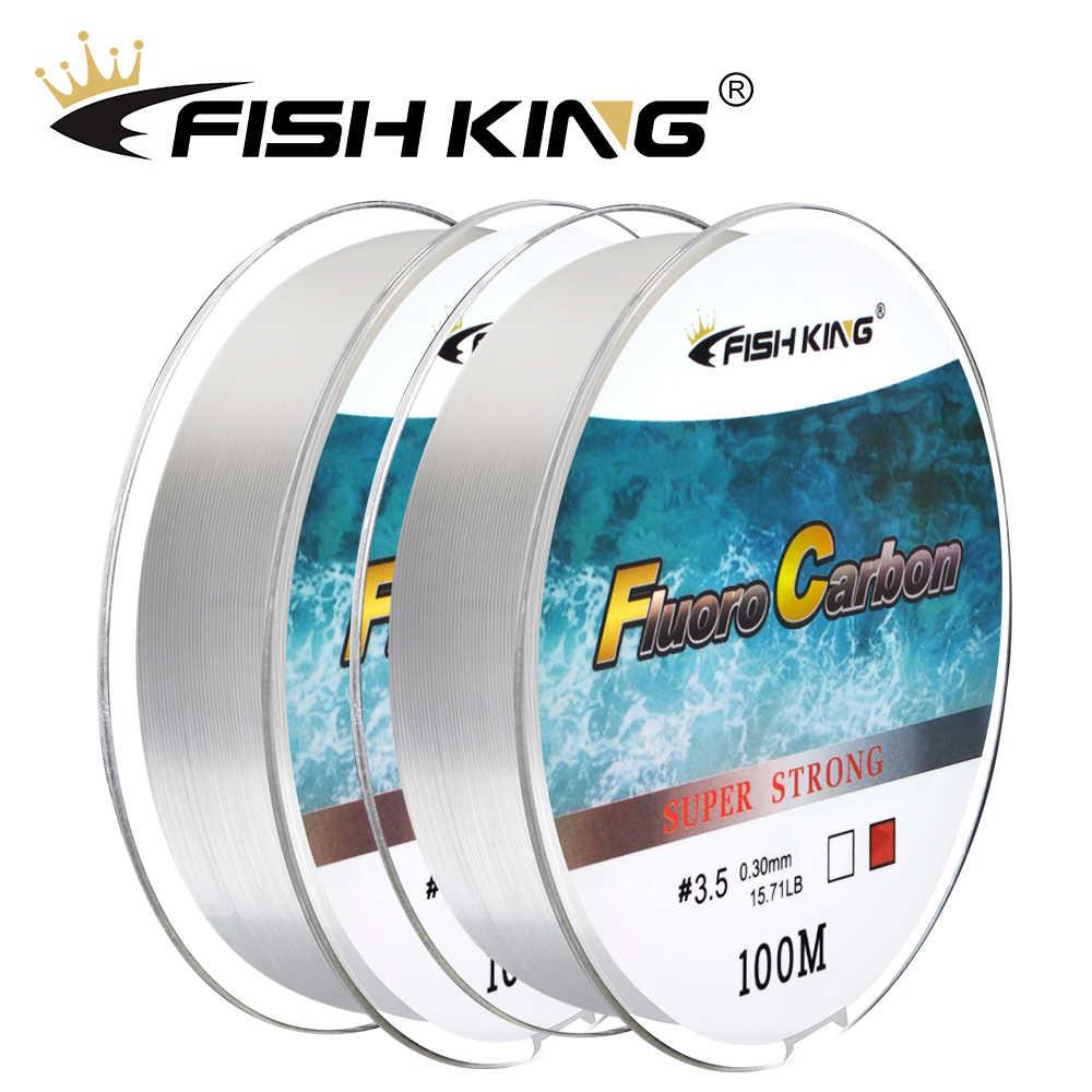 Fish king 100 メートルフルオロカーボンコーティング釣り糸 4.136LB-34.32LB 炭素繊維モノフィラメントリーダーライン鯉釣りライン