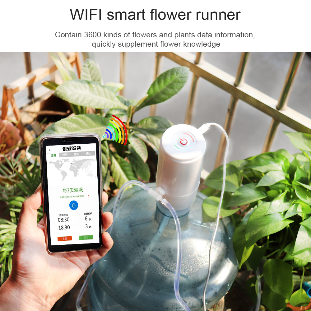 Handy Fernbedienung WIFI Steuer bewässerung gerät Intelligente automatische Tropf Bewässerung System Für Garten anlage wasserpumpe timer