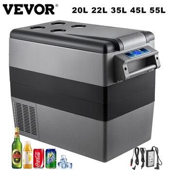 VEVOR-Mini nevera portátil para vehículos, refrigerador de coche, camión, barco, 12V, 20L, 22L, 35L, 45L, 55L 1