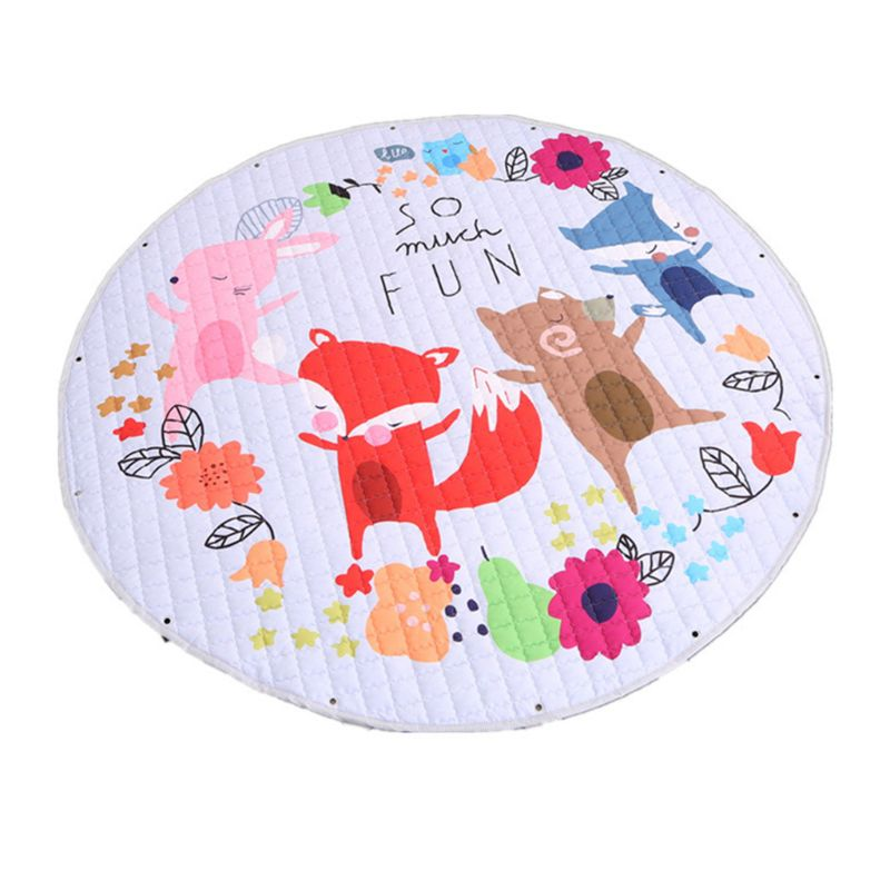 Living Room Decoration Cute Cartoon Storage Mat Children Baby Game Crawling Pad