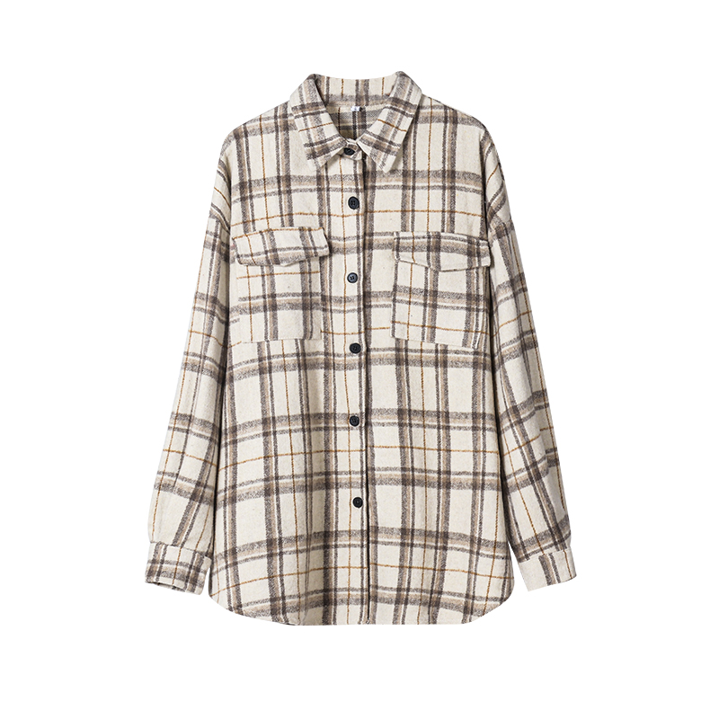 Toppies 2020 vintage plaid shirt jackets women oversized shirts ladies tops plus size clothing fall