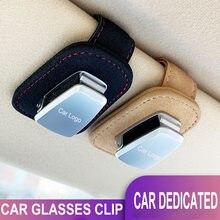 Coche portátil gafas casos Abrazadera para tarjeta o tique parasol para coche titular de gafas de sol para Volvo xc90 xc60 s60 s40 s90 v40 c30 v60 xc40