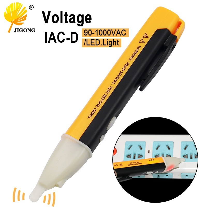 Electric Indicator 90-1000V Socket Wall AC Power Outlet Voltage Detector Sensor Tester Pen LED Light