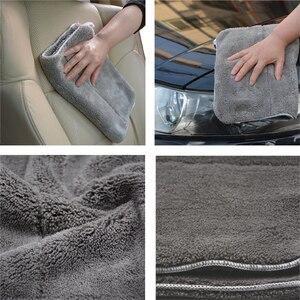 """Image 5 - 3 יחידות 40 ס""""מ x 30 ס""""מ 800GSM סופר עבה בפלאש מיקרופייבר רכב ניקוי בד רכב טיפול לשטוף Microfibre שעווה ליטוש מגבת פירוט"""