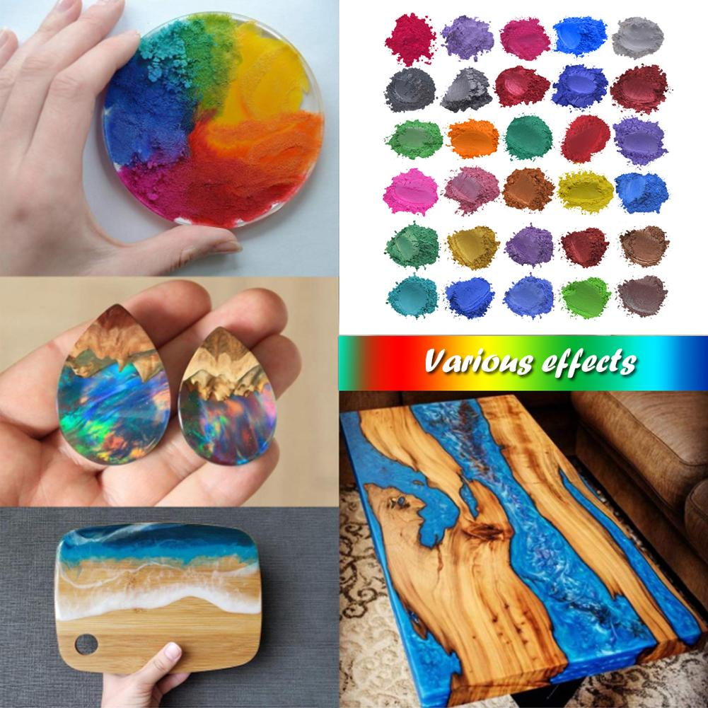 52 Colors Mica Powder Epoxy Resin Dye Pearl Pigment Natural Mica Mineral Handmade For Eye Shadow Blush Nails And Other Crafts