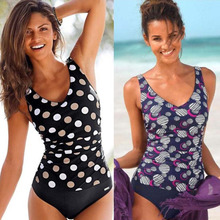 Sexy Dot Slim Fit Cover The Belly One-Piece Swimsuit Closed Swimwear Plus Size Body Suits Bathing Suit Women Beach Bather Pool 2018 one piece arena bodysuit bather pool men boy child swimwear shark skin surf swim bathing snorkel suit swimsuit plus size
