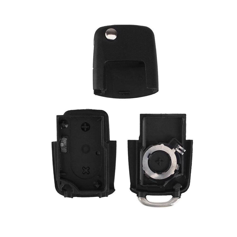 KEYYOU 2 button Folding Car Remote Key Flip Folding Key Shell Case For Volkswagen Vw Jetta Golf Passat Beetle Skoda Seat Polo B5 4