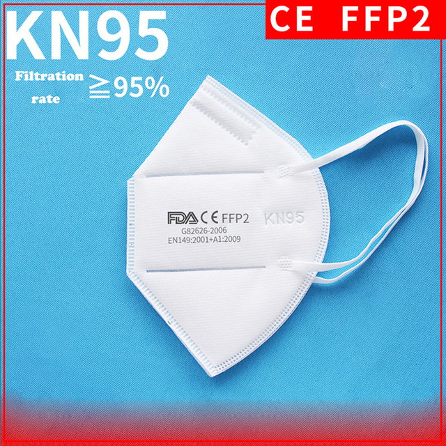 100PCS N95 N99 Reusable Valved Face Mask 5 Layers Filter Bacterial Flu Protection Face Mask Mouth Cover Pm2.5 Anti-Dust Masks 19 4