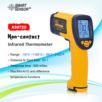 SMART SENSOR AS872D High Precision Infrared Thermometer Industry IR Pyrometer 18~1150 Degree 50:1 Temperature Meter