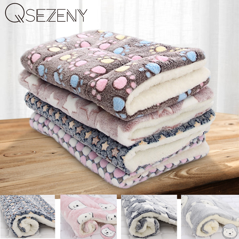 Soft Flannel Thickened Pet Soft Fleece Pad Pet Blanket Bed Mat For Puppy Dog Cat Sofa Cushion Home Rug Keep Warm Sleeping Cover 1