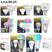 Milight Dimmable Led Bulb MR16 GU10 E14 E27 2.4G Led